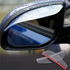 flexible car rear view mirror rain shade guard water sun visor