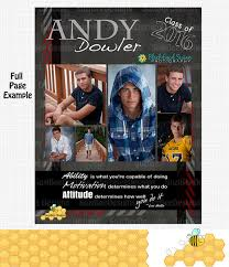 senior yearbook ad templates masculine yearbook ad high school senior middle school or
