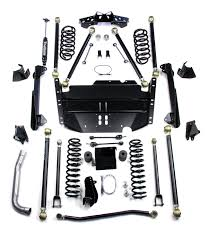 lj jeep lifted lj unlimited 4 u201d pro lcg long flexarm suspension system w out
