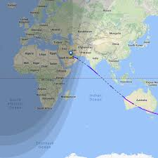 Doha Map This Map Shows Qatar Airways U0027 New Zealand Route The World U0027s