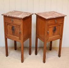 marble top bedside table french oak marble top bedside cabinets c 1900 france from worboys