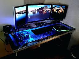 computer desks ultimate gaming desk sand granite charcoal