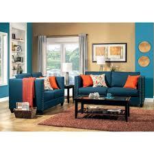 furniture of america palermo livingroom set in dark teal local
