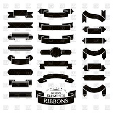 decorative ribbons set of different decorative ribbons vector clipart image 60187