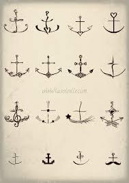 anchor tattoos set two by sabinesusanne on deviantart