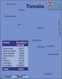 map of tuvalu tuvalu country data links and maps of the population density by