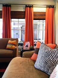 And Orange Curtains Brown And Orange Living Room Curtains 1025theparty