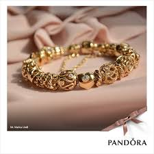 bracelet charm gold jewelry images Gold pandora bracelet with gold charms blings blings pinterest png