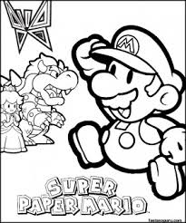 coloring pages spuer mario bowser princess toadstool