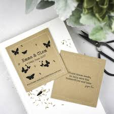 flower seed wedding favors personalised seeded paper plantable favours