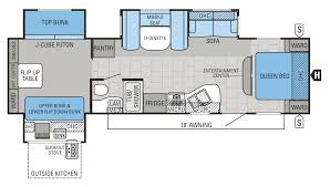 expandable rv floor plans jayco 32tsbh floorplan double slide bunkhouse cool rv layouts