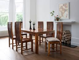 Dining Room Table Sets For 6 Lifeestyle Handcrafted Sheesham Wood 6 Seater Dining Set Honey