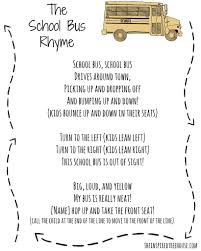 back to activities for kids the bus rhyme bus