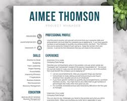 Resume Template On Microsoft Word Creative Resume Template Resume For Word And Pages 1 2 U0026