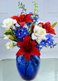 white and blue floral arrangements floral arrangements white and blue for the 4th of july