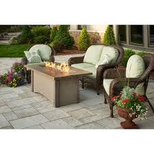 outdoor greatroom fire table outdoor greatroom pr 1242brn pine ridge fire pit table with brown