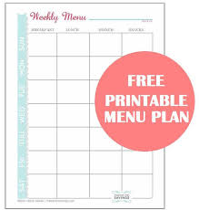 best 25 menu planner printable ideas on meal planner