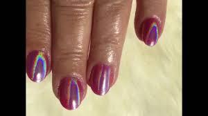gold rose unicorn holographic nails by tom nguyen nailstudiobytom