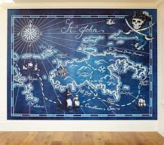 Kids Pirate Bathroom - pirate map mural pottery barn kids i must have this for my boy u0027s