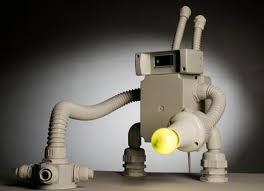 croatian artist robert matysiak designs robot lamps elite choice