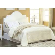 white leather full queen size square tufted headboard overstock