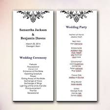 diy wedding program templates diy wedding program template europe tripsleep co