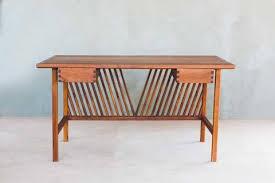 Modern Wood Desk Handmade Modern Wood Desks Sustainable Solid Wood Masaya Co