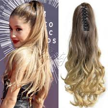 clip on ponytail wholesale one synthetic wavy pony hair extension curly