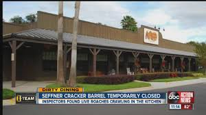dirty dining 50 live roaches crawling around cracker barrel s dirty dining 50 live roaches crawling around cracker barrel s kitchen temporarily shuts it down youtube