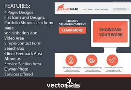flat portfolio website template free download psd by vectorpsdfree