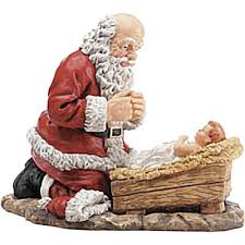 santa kneeling at the manger santa kneeling at the manger of baby jesus drawing pictures