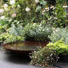 water trough planter corten steel garden water bowl