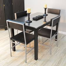 stainless steel dining table with high gloss top arctic i i 12563