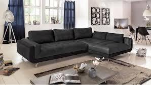 cdiscount canapé d angle canapé d angle droit fixe pablo cuir et tissu 5 places pas cher