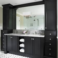 Black Bathroom Cabinets With White And Grey Counter Top And Black - Black bathroom vanity and sink