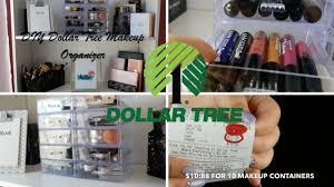 dollar tree diy faux acrylic makeup organizer under 15 youtube