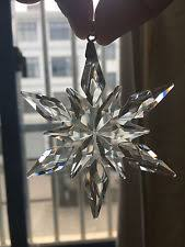 unbranded glass snowflake ornaments ebay