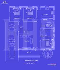 Ground Floor And First Floor Plan by Blueprint And Elevation 2386 Sq Ft Home Design