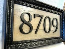 light up address sign house number plaque address sign carved stone house number marker