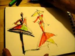 the 2 minute fashion sketch youtube