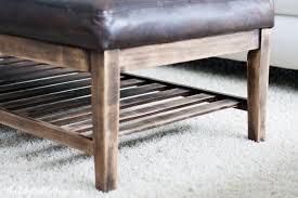 distressed leather coffee table ottoman thesecretconsul com