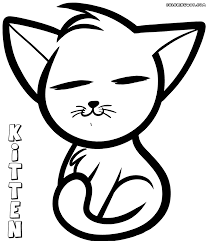 anime kitten coloring pages coloring pages to download and print