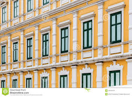 Neoclassical Architecture European Style Yellow Building Neoclassical Architecture Royalty