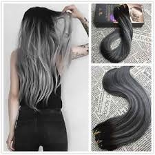 grey hair extensions new grey balayage clip in human hair extension remy hair