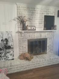 fireplace painting an old fireplace decorating idea inexpensive