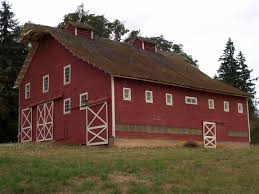 barn architecture styles with nice red wooden wall painting and