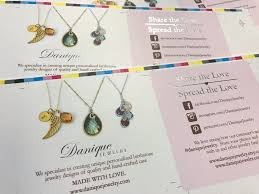 color necklace display images Printed jewelry cards corcoran printing jpg