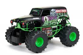 rc monster truck grave digger new bright 1 24 scale r c monster jam grave digger