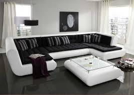 wohnzimmer wohnlandschaft wohnlandschaft u form weiß schwarz mit komfortable sitzfläche
