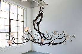 branch chandelier branch chandelier in bronze and porcelain david wiseman s most